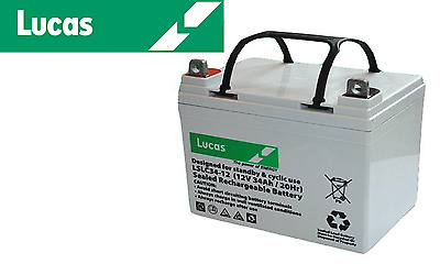 12V 34AH 36 Holes Lucas 34-12 AGM GOLF TROLLEY BATTERY