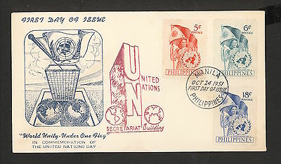 WC5390 1951 Philippines First Day Cover