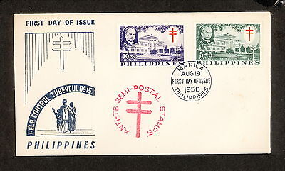 WC5415 1958 Philippines First Day Cover