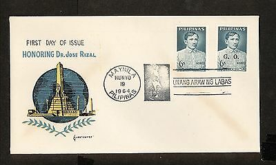WC5437 1964 Philippines First Day Cover