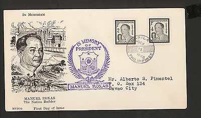 WC5446 1948 Philippines First Day Cover
