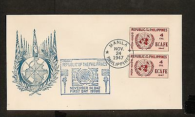 WC5451 1947 Philippines First Day Cover