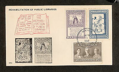 WC5462 1949 Philippines First Day Cover