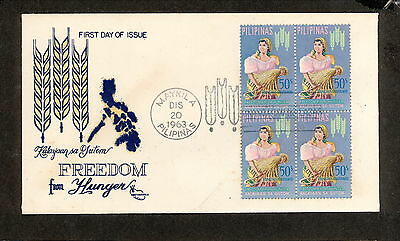 WC5476 1963 Philippines First Day Cover