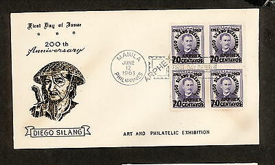 WC5485 1963 Philippines First Day Cover