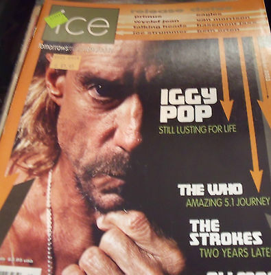 Iggy Pop- Oct 2003  Ice Magazine #199- The Who, The Strokes, Allman Brothers