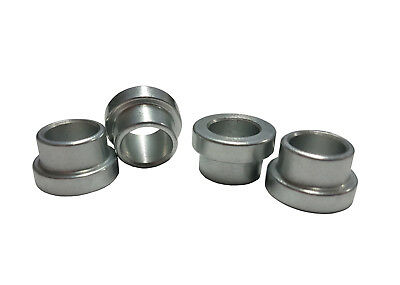 """1/2"""" to 3/8"""" (SHORT) Shock Absorber/Rod End Top Hat Reducing Spacers - Pack of 4"""