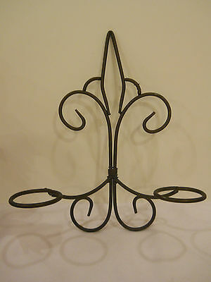 """Wall sconce candle holder wrought iron 14.5"""" tall X 11.5"""" wide NO glass holders"""