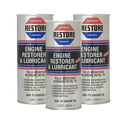 New Restore Tired High-Mileage Engines w AMETECH ENGINE RESTORE OIL 3/400ml CANS