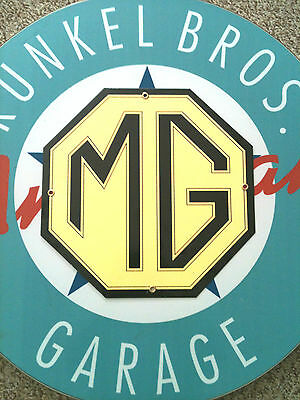MG LOGO - Porcelain Coated Metal Sign - Classic Colors - We ship World Wide