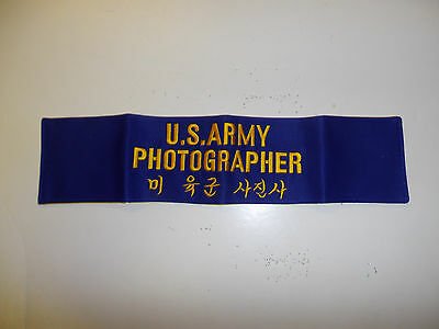 c0020 Korea Korean war era US Army Photographer Armband R10A