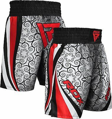 RDX Boxing Shorts Mens Trunks MMA Kickboxing Training Running Gym Sports Grey