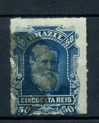 Brazil 1878-9 SG#59 50R Emperor Pedro II Rouletted Used #A22777