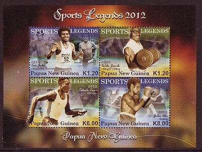 Papua New Guinea 2012 Sports Legends Unmounted Mint, Mnh
