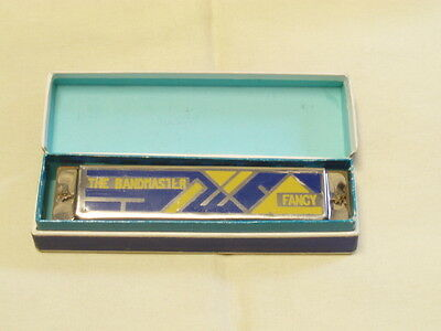 vintage Germany harmonica THE BANDMASTER FANCY original case key C!
