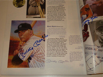 Hof Program Signed By Mickey Mantle, Ted Williams, & More!