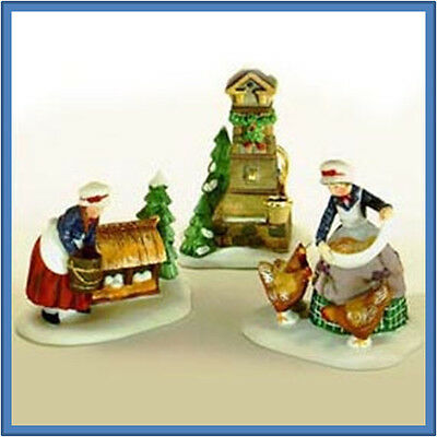 Dept 56 Twelve 12 Days Dickens THREE 3 FRENCH HENS MIB MINT!