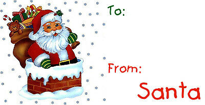 Christmas From Santa Gift Present Labels, Personalized