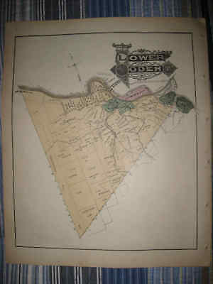 Antique Lower Yoder Township Johnstown Prospect Cambria County Pennsylvania Map