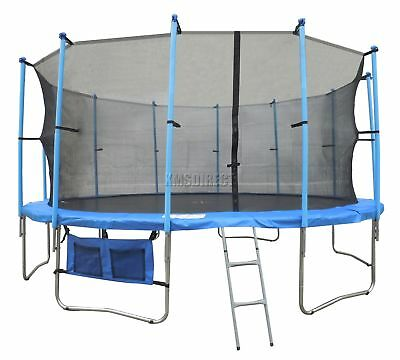 16ft Trampoline with Free Ladder Safety Net Enclosure Weather Cover Pad Surround