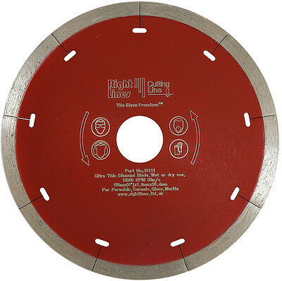 Porcelain Tile Cutting Diamond Disc Blade 115mm For 4.5in Angle Grinders.