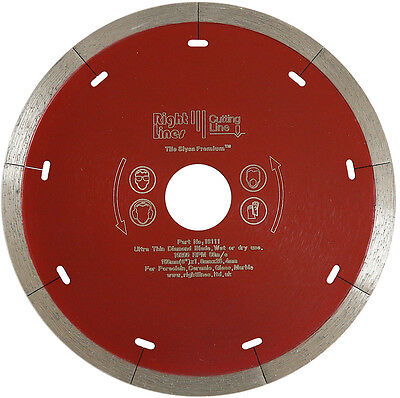 Porcelain Tile Cutting Diamond Disc Blade 150mm x 22.2mm For Wet Tile Saws.