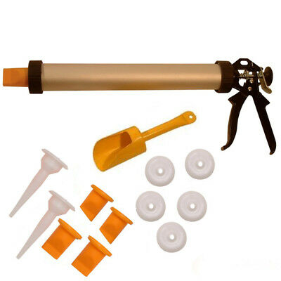 Roughneck Grouting Pointing Brick Tile Cement Mortar Gun Kit + Extra Accessories