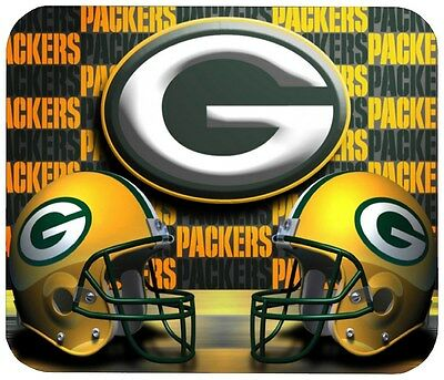 Green Bay Packers Mouse Pad 1/4 In. Sports Football Nfl Mousepad