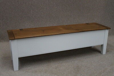 7Ft French Farmhouse School Bench Hall Bench With Storage Settle Pew