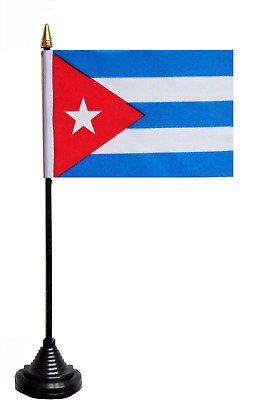 Cuba Polyester Table Desk Flag