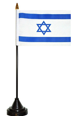 Israel Polyester Table Desk Flag