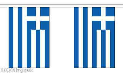 Greece Polyester Flag Bunting - 6m long with 20 Flags