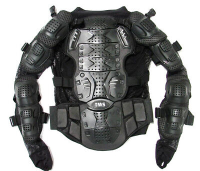 Motorcycle Full Body Armor Jacket Spine Chest Protection Gear ~S M L XL 2XL 3XL