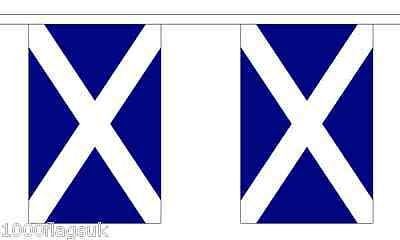 Scotland St Andrews Saltire Navy Blue Polyester Flag Bunting - 3m with 10 Flags