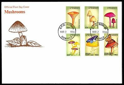 1998 Dominica MUSHROOM BUTTERFLY Cover D5