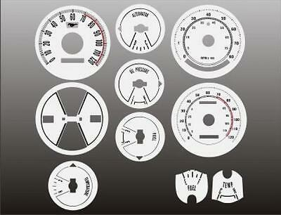 1969-1970 Ford Mustang Dash Cluster White Face Gauges 69-70