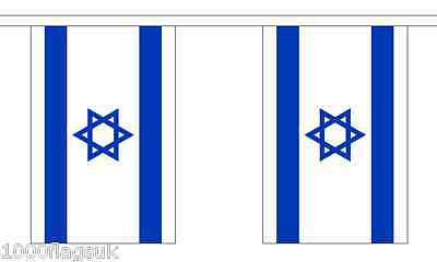 Israel Polyester Flag Bunting - 9m long with 30 Flags