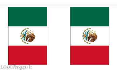 Mexico Polyester Flag Bunting - 9m long with 30 Flags