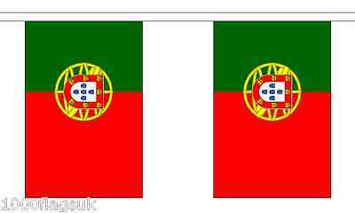 Portugal Polyester Flag Bunting - 9m long with 30 Flags