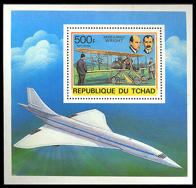 1978 Tchad AIRCRAFT CONCORDE MUH Stamp S14