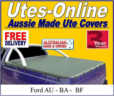 Ford Falcon Au Ba Bf Ute Soft Tonneau Cover To Fit Factory Sports Bar Cutouts