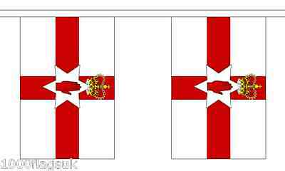 Northern Ireland Polyester Flag Bunting - 9m long with 30 Flags