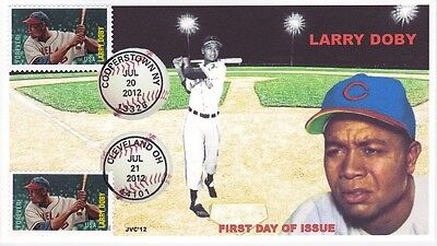Jvc Cachets - 2012 Baseball Dual Cancel First Day Cover Fdc - Larry Doby #2