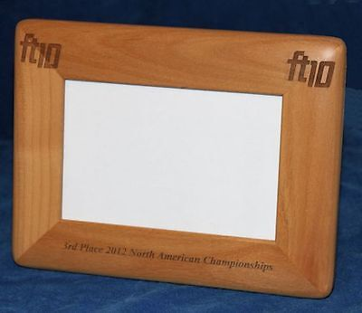 Personalized Laser Engraved 8 x 10 Alder Wood Photo Frame Round Corners
