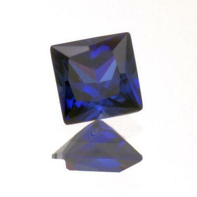 6mm Princess/Square Shape Lab Created Blue Sapphire