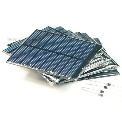 20pcs 10X 5V, 150mA 750mW 15Watts 15W Total Solar Panel Power Cell For Charger