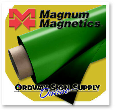 "GREEN Magnetic Sheeting 10' x 24"" x .030""  30 mil  Discounted"