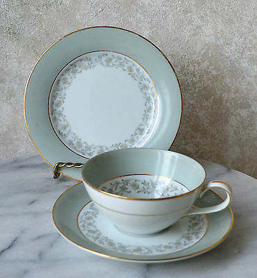 CHARTRES by NORITAKE Pat #: 5920 TEACUP SAUCER SET - TEA CUP DESSERT PLATE TRIO