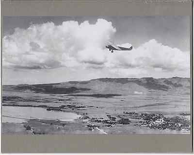 "Fokker Over Ewa/pearl City Aerial 1929 Silver Halide Photograph On 8X10"" Mat"