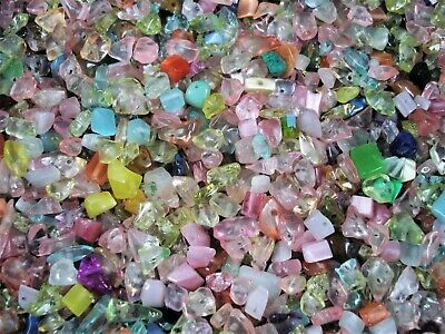 Crystal Glass Chips 100g Mix Pack 400pcs Bead Jewellery Necklace FREE POSTAGE